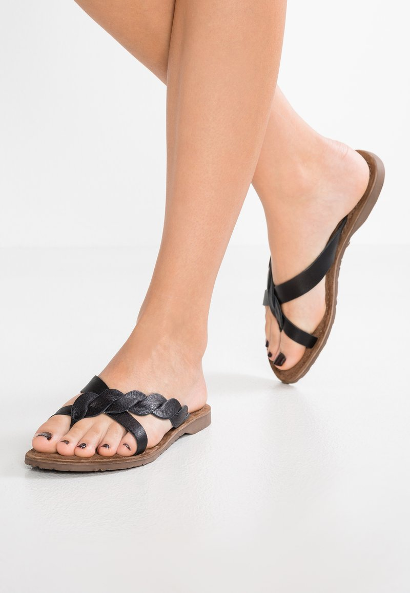Lazamani - T-bar sandals - black