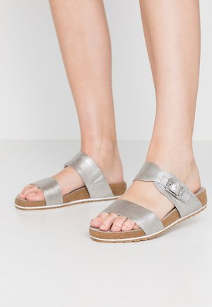 MALIBU WAVES 2BAND SLIDE - Slippers - silver