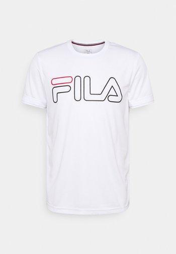 TILL - T-shirts med print - white