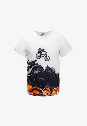 BIKER  - Print T-shirt - white