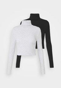 Even&Odd - 2 PACK - Long sleeved top - black/grey - 5