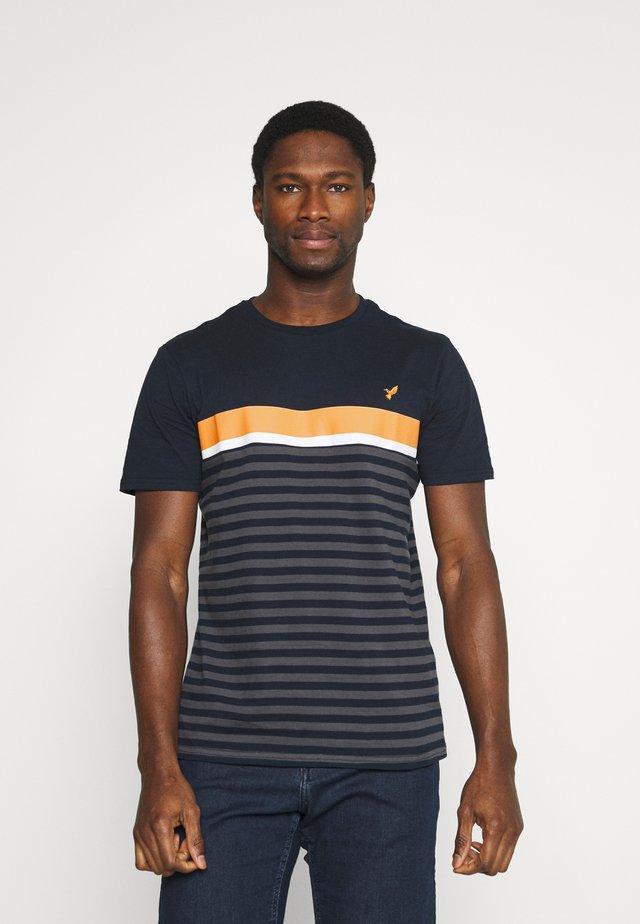 T-shirt con stampa - dark blue/dark grey