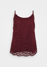 ALL OVER CAMI - Blouse - aubergine
