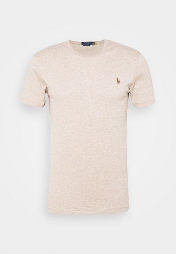CUSTOM SLIM SOFT COTTON TEE - Basic T-shirt - tuscan beige heather