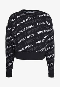 Nike Performance - CREW  - Sweatshirt - black/metallic silver