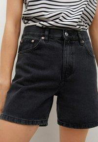 Mango - Szorty jeansowe - black denim - 3