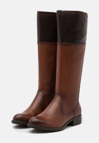 Tamaris - BOOTS - Vysoká obuv - brandy/mocca - 2