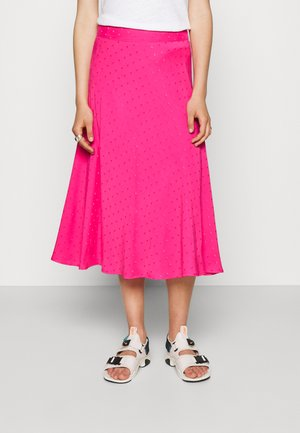 DRAPY STELLY LONG - Maxi skirt - shocking pink
