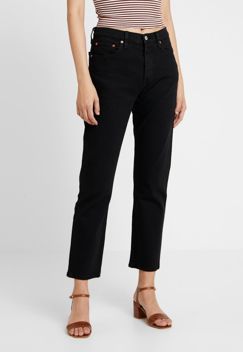 Levi's® - 501® CROP - Džíny Straight Fit - black heart