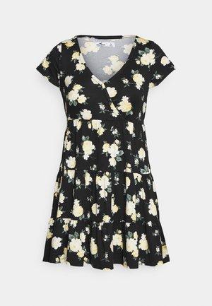 SHORT DRESS - Jerseykjoler - black