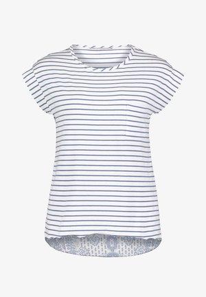 MIT STREIFEN - Blouse - white/classic blue