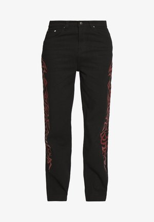 TRIBAL SCREEN PRINT SKATE - Relaxed fit jeans - black
