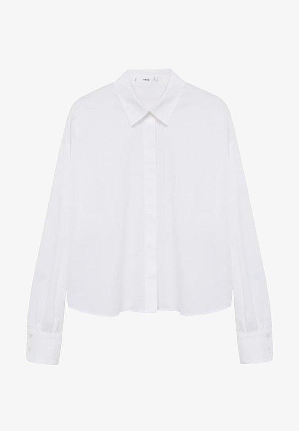 Mango CROP - Koszula - bianco sporco/mleczny SHLT