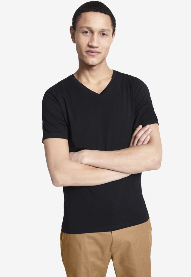 SUPIMA  - T-shirt basique - black