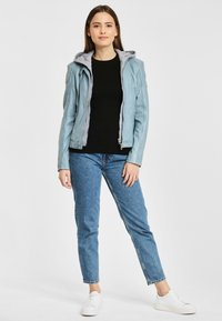 Gipsy - AELLY LAMAS - Leather jacket - light blue - 1