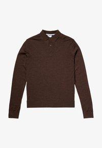 Van Gils - LONGSLEEVE - Polo shirt - dark brown - 5