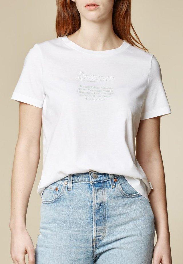 Print T-shirt - pure white