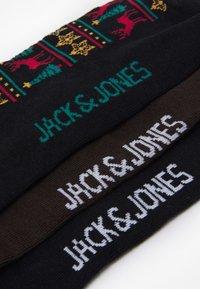 Jack & Jones - JACRUDOLF SOCKS GIFTBOX 3 PACK - Chaussettes - black/trekking green - 2
