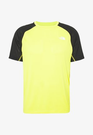 MENS AMBITION - Print T-shirt - lemon/black