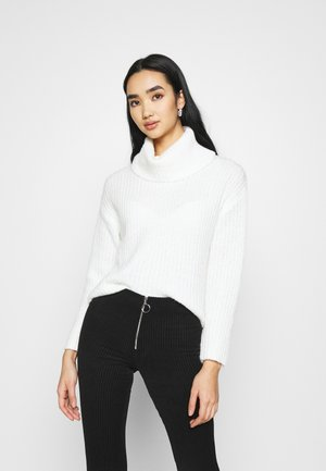 ROLL NECK JUMPER - Jumper - off-white