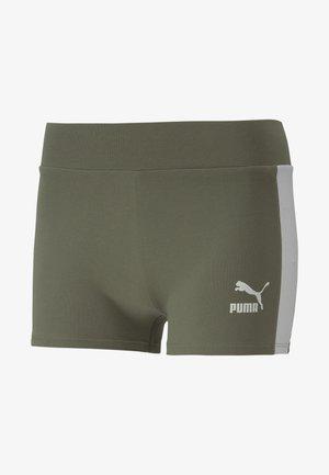 Sports shorts - deep lichen green