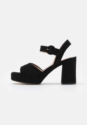 ODRAN - Sandály na platformě - black