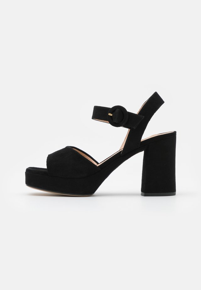ODRAN - Sandały na platformie - black