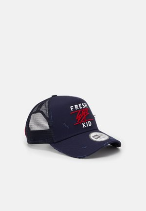 DISTRESSED TRUCKER  - Gorra - navy