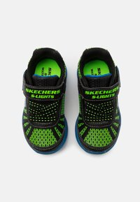Skechers - MAGNA LIGHTS - Trainers - black/lime/royal - 3