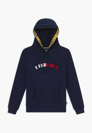 GRAPHIC HOODED - Mikina s kapucí - blue