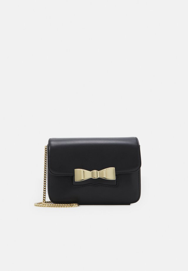 OCTAVI SLOTTED BOW XBODY BAG - Olkalaukku - black