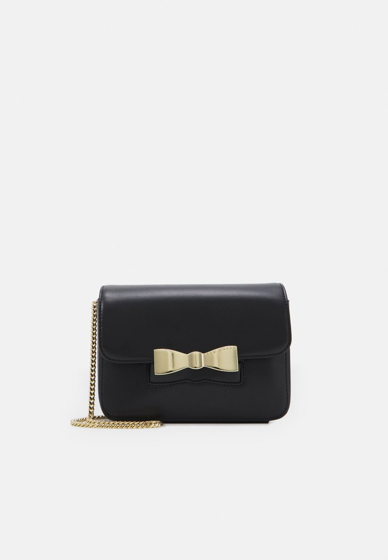Ted Baker - OCTAVI SLOTTED BOW XBODY BAG - Across body bag - black