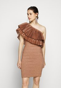 Hervé Léger - FRINGE GOWN - Cocktail dress / Party dress - rose gold - 0