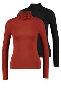 New Look Petite - ROLL NECK 2 PACK - Long sleeved top - black/chocolate - 0