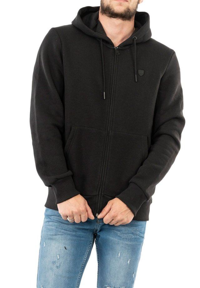 LOYPOS - veste en sweat zippée - noir