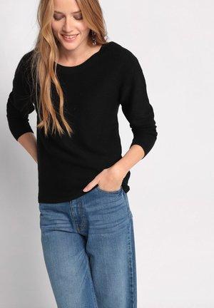 MIT REISSVERSCHLUSS HINTE - Pullover - noir