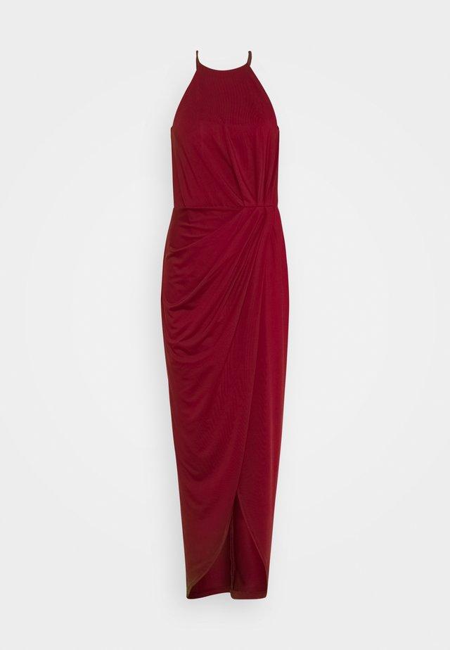 TWISTED SPORTSCUT GOWN - Suknia balowa - burgundy