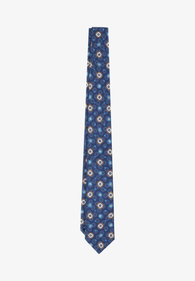 FLOWERS - Cravate - blue