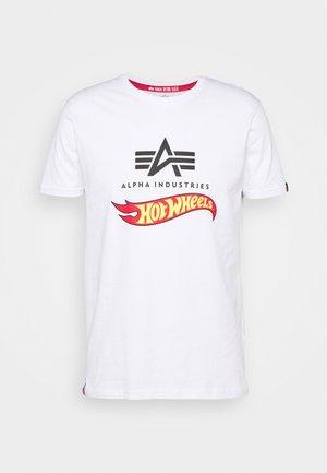 HOT WHEELS FLAG  - Print T-shirt - white