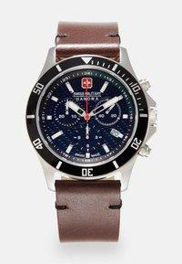 Swiss Military Hanowa - FLAGSHIP RACER - Chronograph watch - green/black/brown - 0