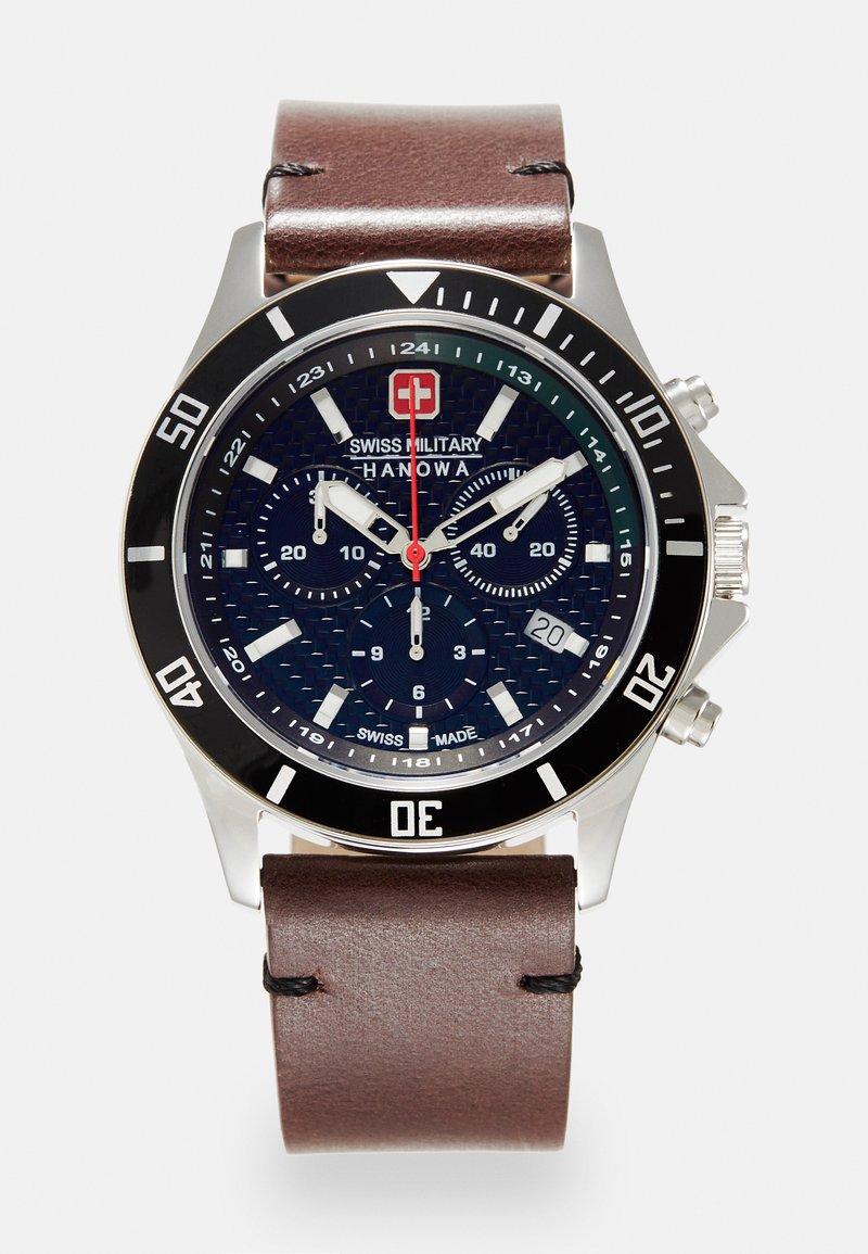 Swiss Military Hanowa - FLAGSHIP RACER - Chronograph watch - green/black/brown