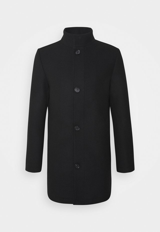 STAND UP COLLAR COAT - Manteau court - black