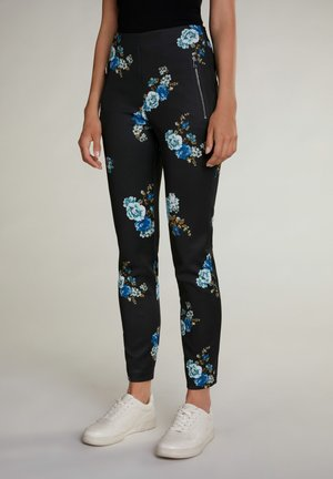 Leggings - Trousers - black green