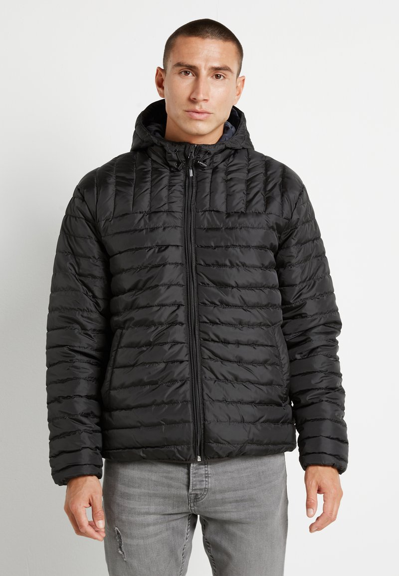 Only & Sons - ONSPAUL QUILTED HOOD JACKET - Light jacket - black