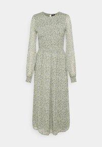Vero Moda Tall - VMSIFFY O NECK SMOCK CALF DRESS - Day dress - desert sage - 0