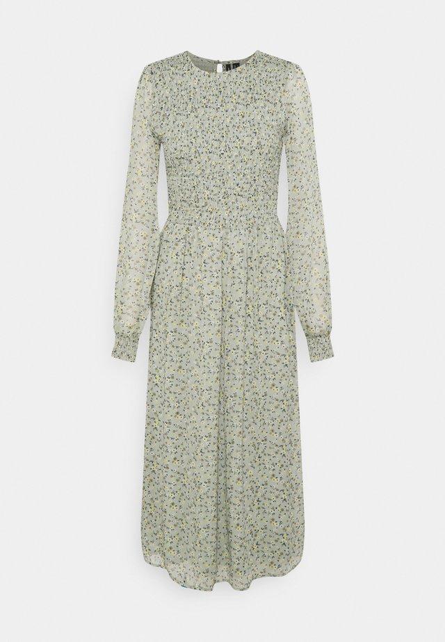 VMSIFFY O NECK SMOCK CALF DRESS - Day dress - desert sage