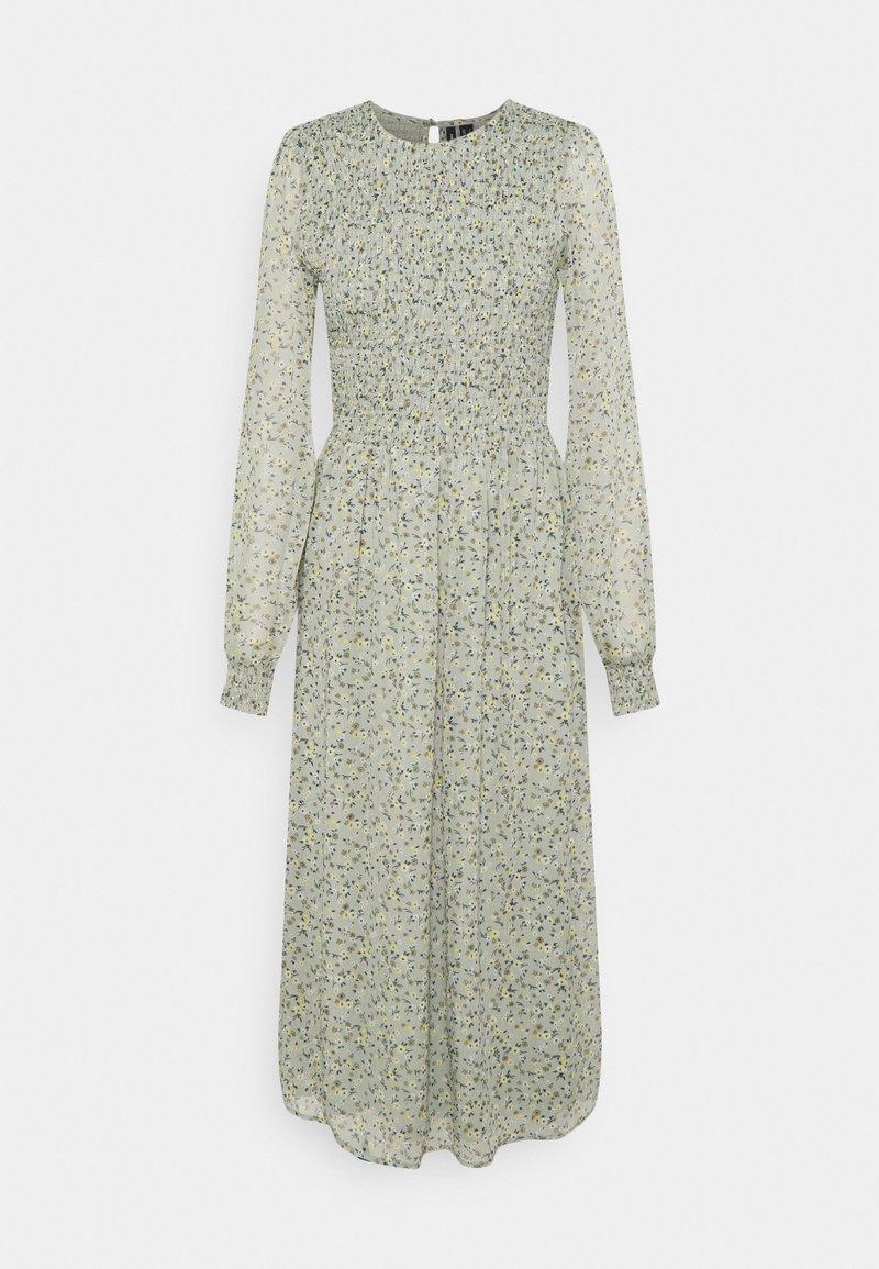 Vero Moda Tall - VMSIFFY O NECK SMOCK CALF DRESS - Day dress - desert sage