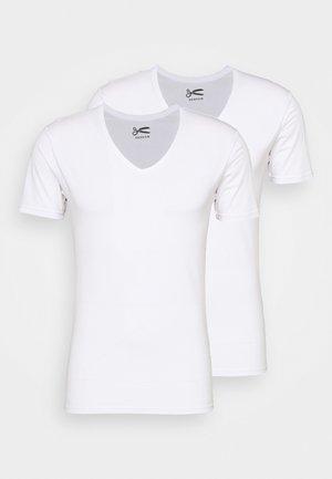 V NECK 2 PACK - Basic T-shirt - white