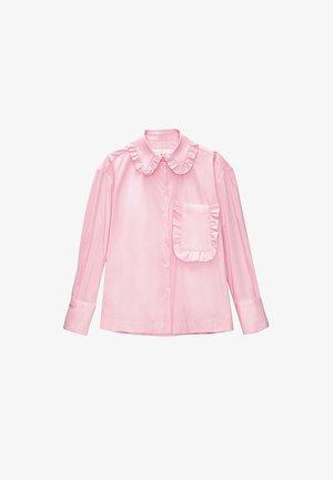 MIT BUBIKRAGEN  - Button-down blouse - pink