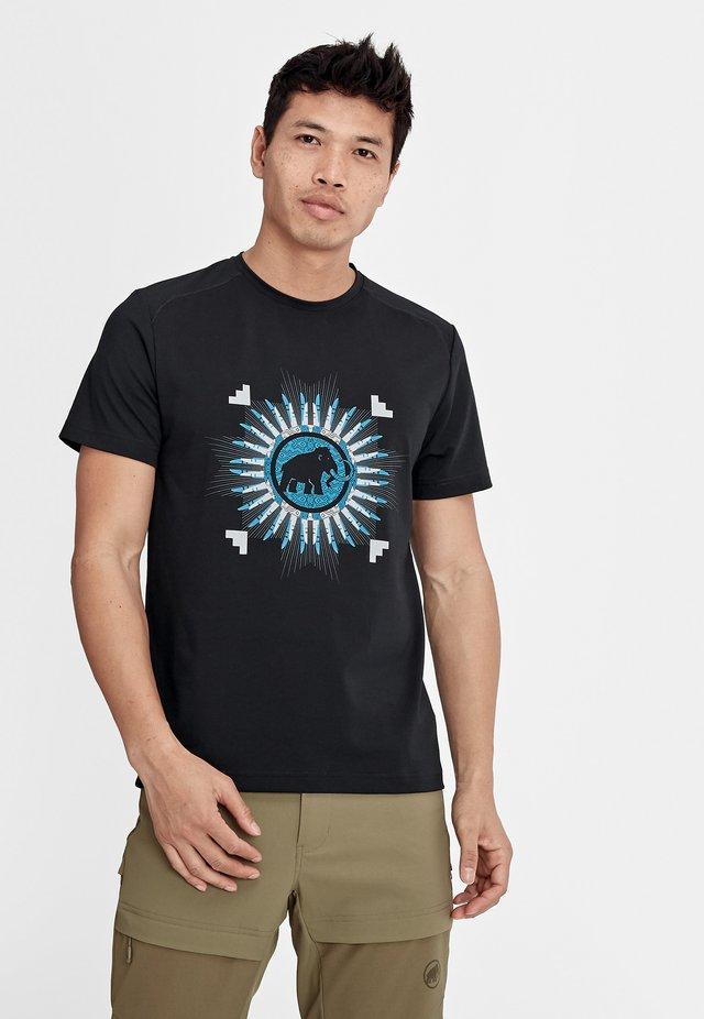 TROVAT - T-shirt print - black prt1
